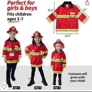 Firefighter dress up kit